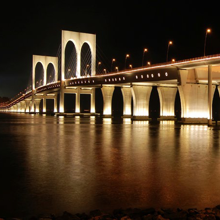 The night of Sai Van bridge in Macau