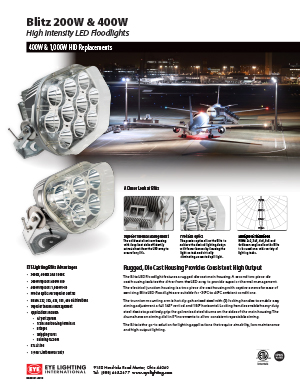Blitz LED Floodlights Sell Sheet
